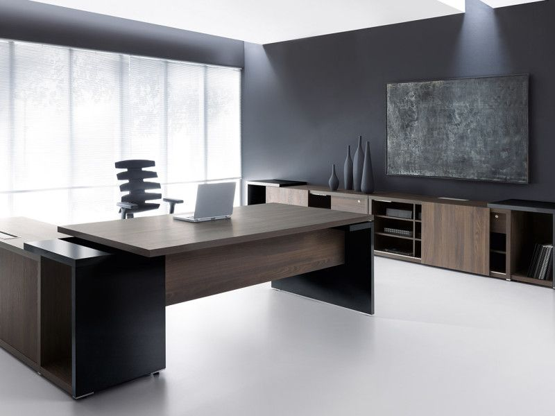Dark Wood Adjustable Height Desks Executive Office Furniture Modern Office Design Modern Office Desk