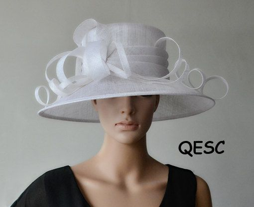 f1d167a3aa9b6 Cream ivory big sinamay fascinator for Royal Ascot Derby Kentucky ...