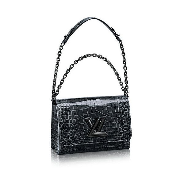 Twist PM Crocodile Brillant (97 345 PLN) ❤ liked on Polyvore featuring bags, handbags, shoulder bags, white cross body purse, crocodile handbag, white handbags, crossbody purse and white crossbody handbags