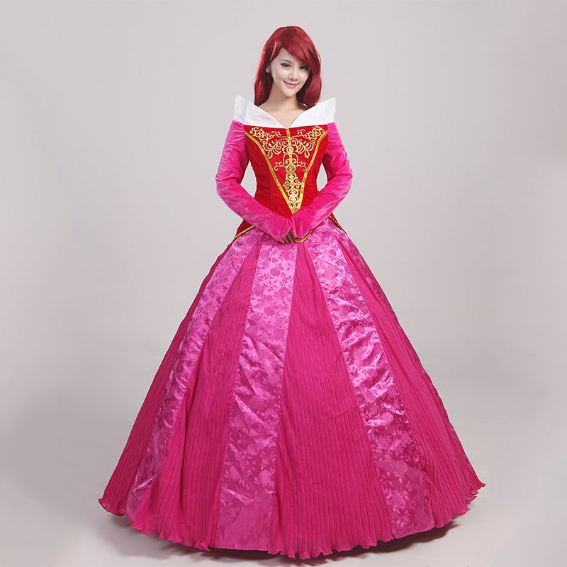 2017 New Arrival Sleeping Beauty Princess Aurora Cosplay Costume For ...