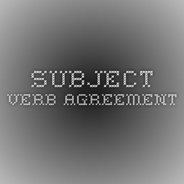 Subject-Verb Agreement English Grammar/Composition/Vocabulary