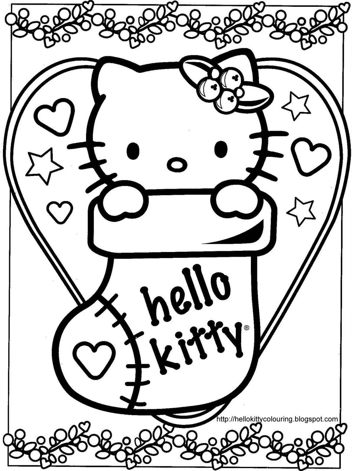Hello Kitty Christmas Coloring Pages | Hello kitty coloring, Kitty ... | 1600x1194