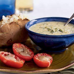 Healthy Broccoli & Cheese Soup