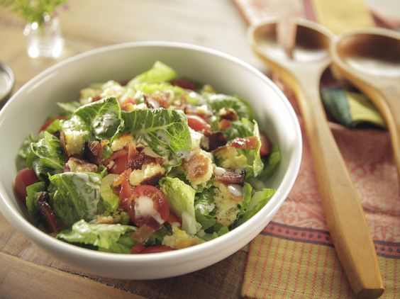Cornbread Salad With Buttermilk Chive Dressing And Maple Bacon Recipe Food Network Recipes Cornbread Salad Maple Bacon Recipes