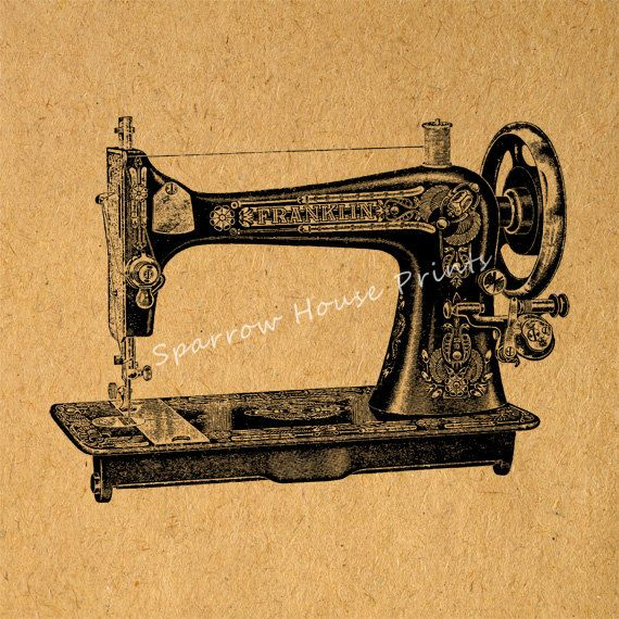 Sewing Machine Vintage Wall Art Print Antique Sewing Artwork with ...