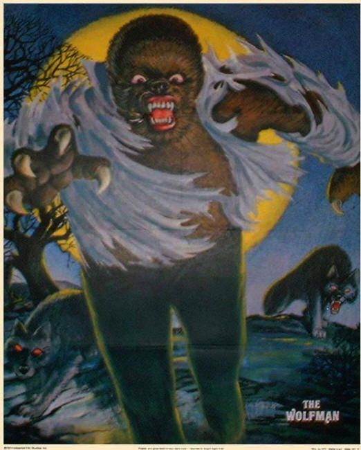 Glow In The Dark Wolfman Poster Cereal Premium From Post