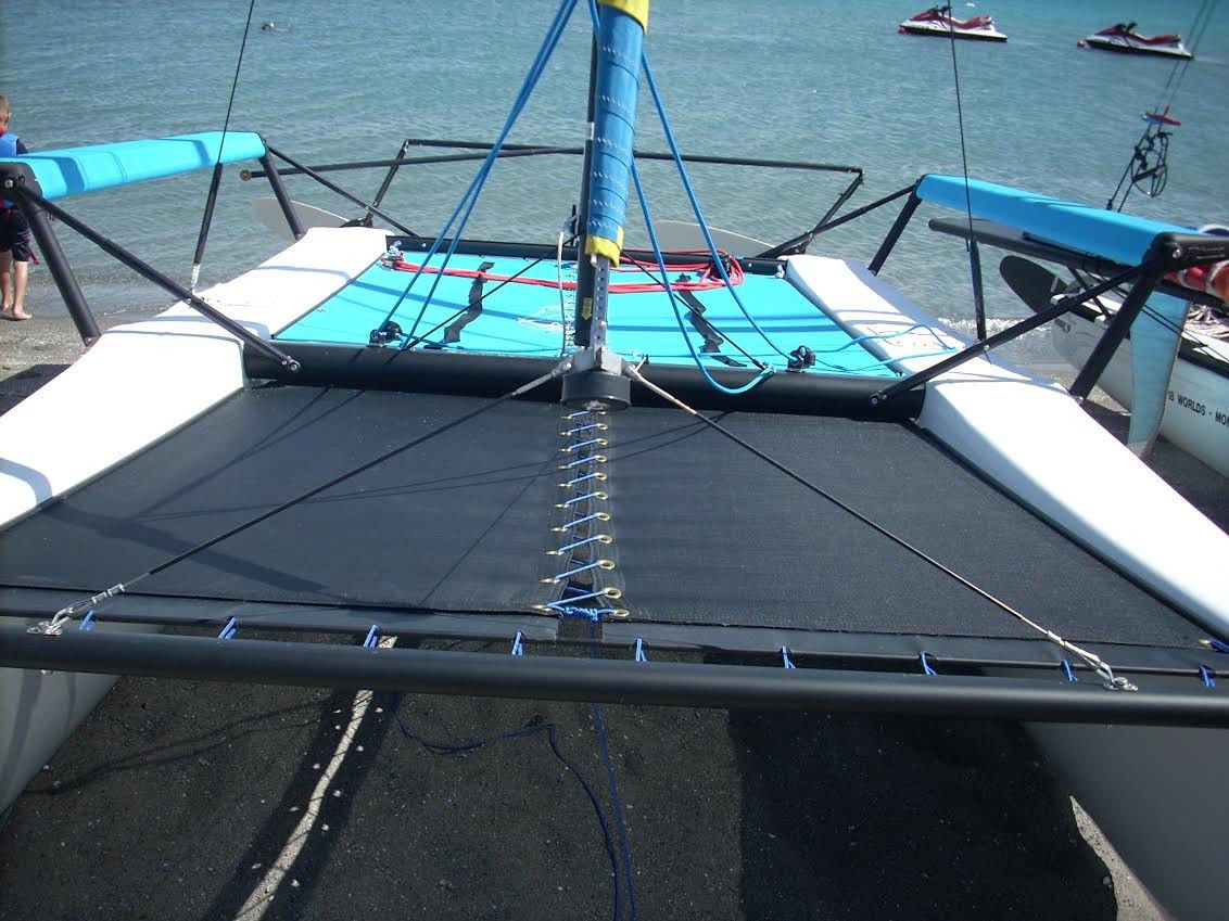 Blue Mesh trampoline for Hobie  16 catamaran