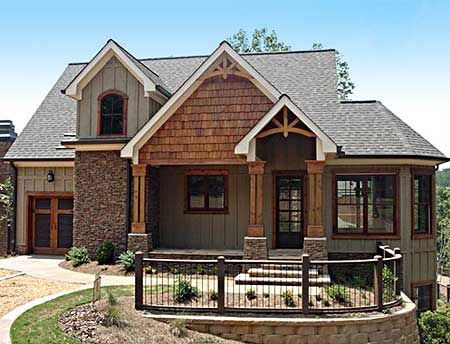Plan 92305MX: Mountain Home with Vaulted Ceilings | Craftsman ...