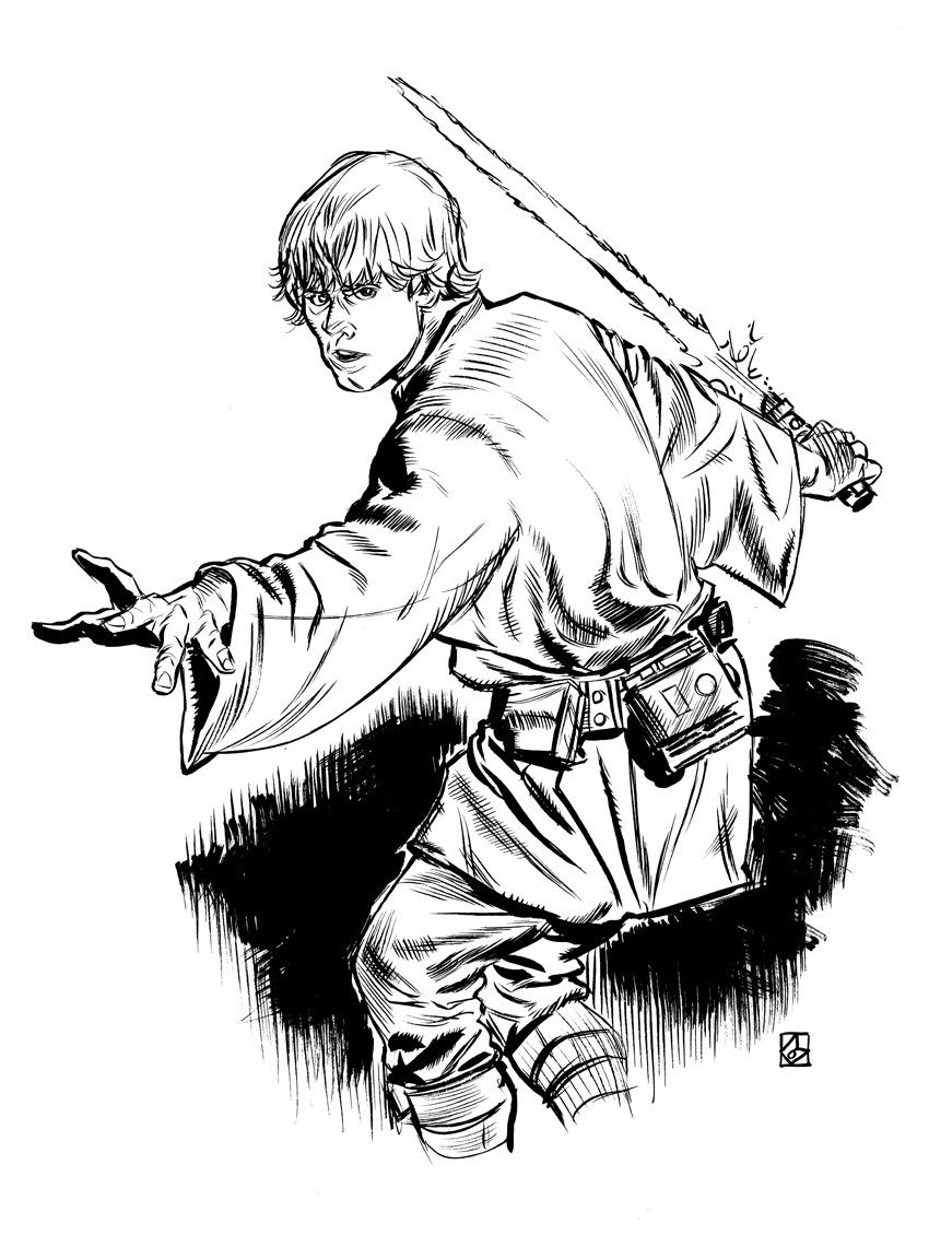 Luke skywalker coloring pages to download and print for free ...