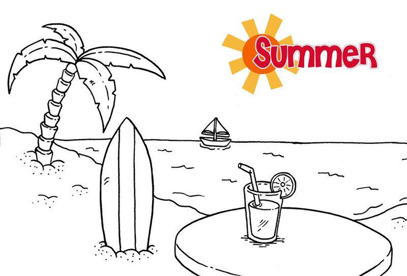 Printable I Love Summer Coloring Pages For Kindergarten