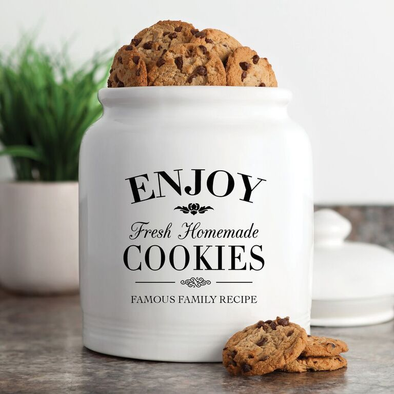 Airtight Cookie Jar Captivating Fresh Homemade Cookies Cookie Jar One Sizecolor Black Ceramic Design Decoration
