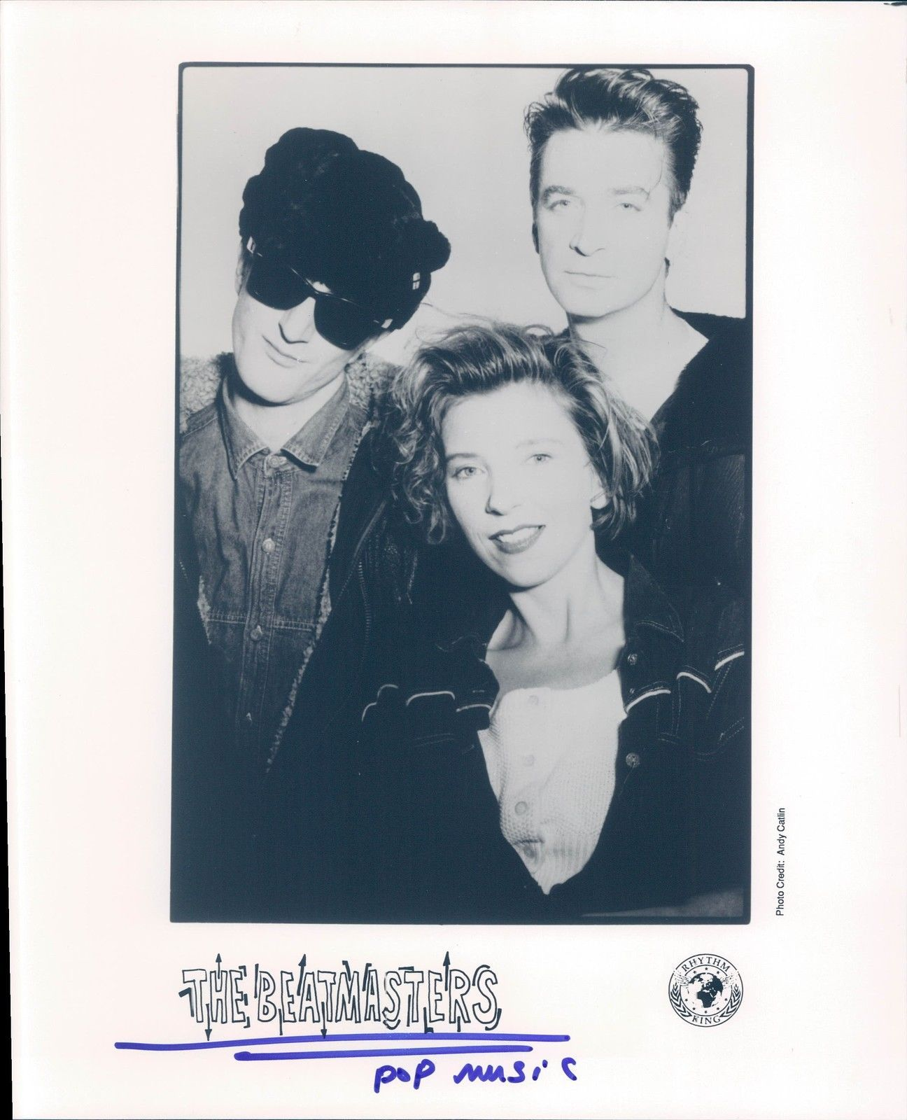 1990 Photo Beat Masters Pop Musicians Producers Men Vintage Historic Pretty