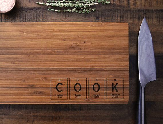 Geekery periodic table custom engraved bamboo wood cutting board geekery periodic table custom engraved bamboo wood cutting board cook science student or urtaz Image collections