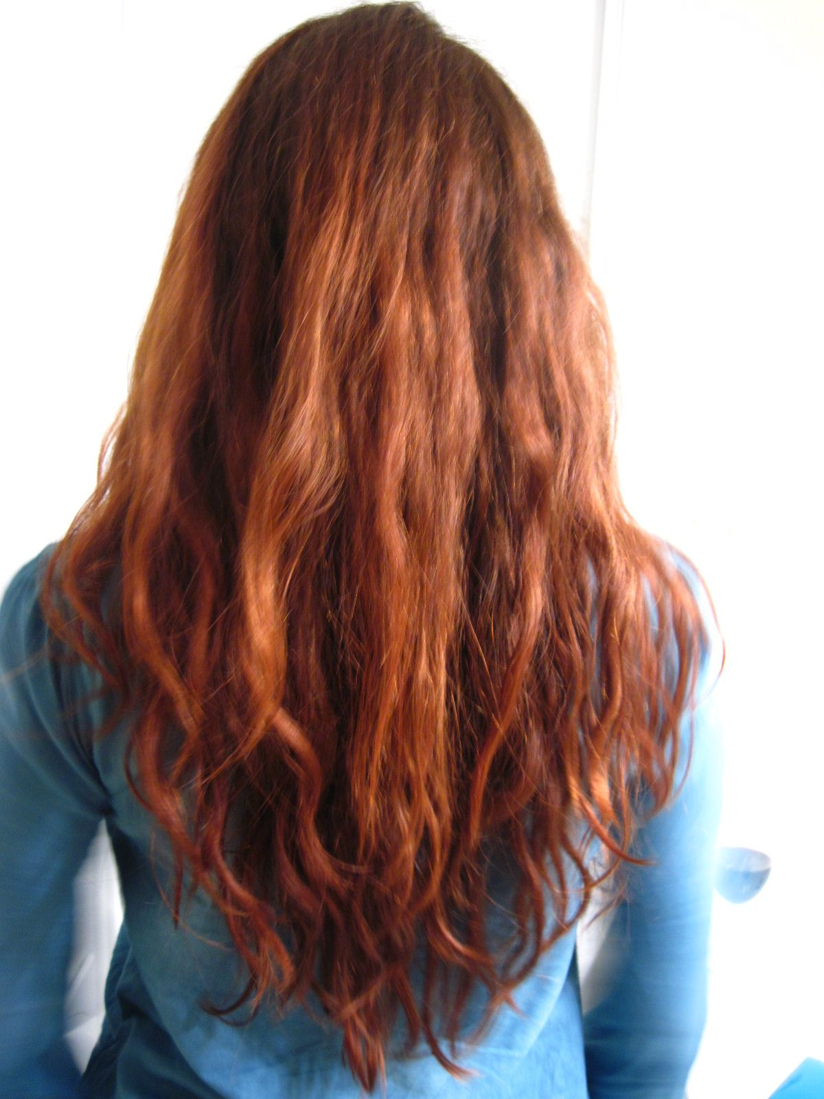 Danielle's hair after coloring with Light Mountain