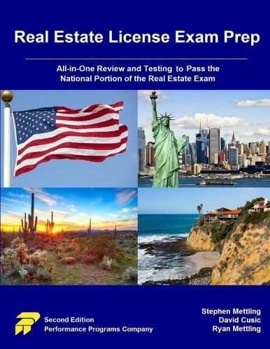 Pdf Download Real Estate License Exam Prep All In One Review And Testing To Pass The National Portion Of The Re Real Estate Exam Real Estate License Exam Prep