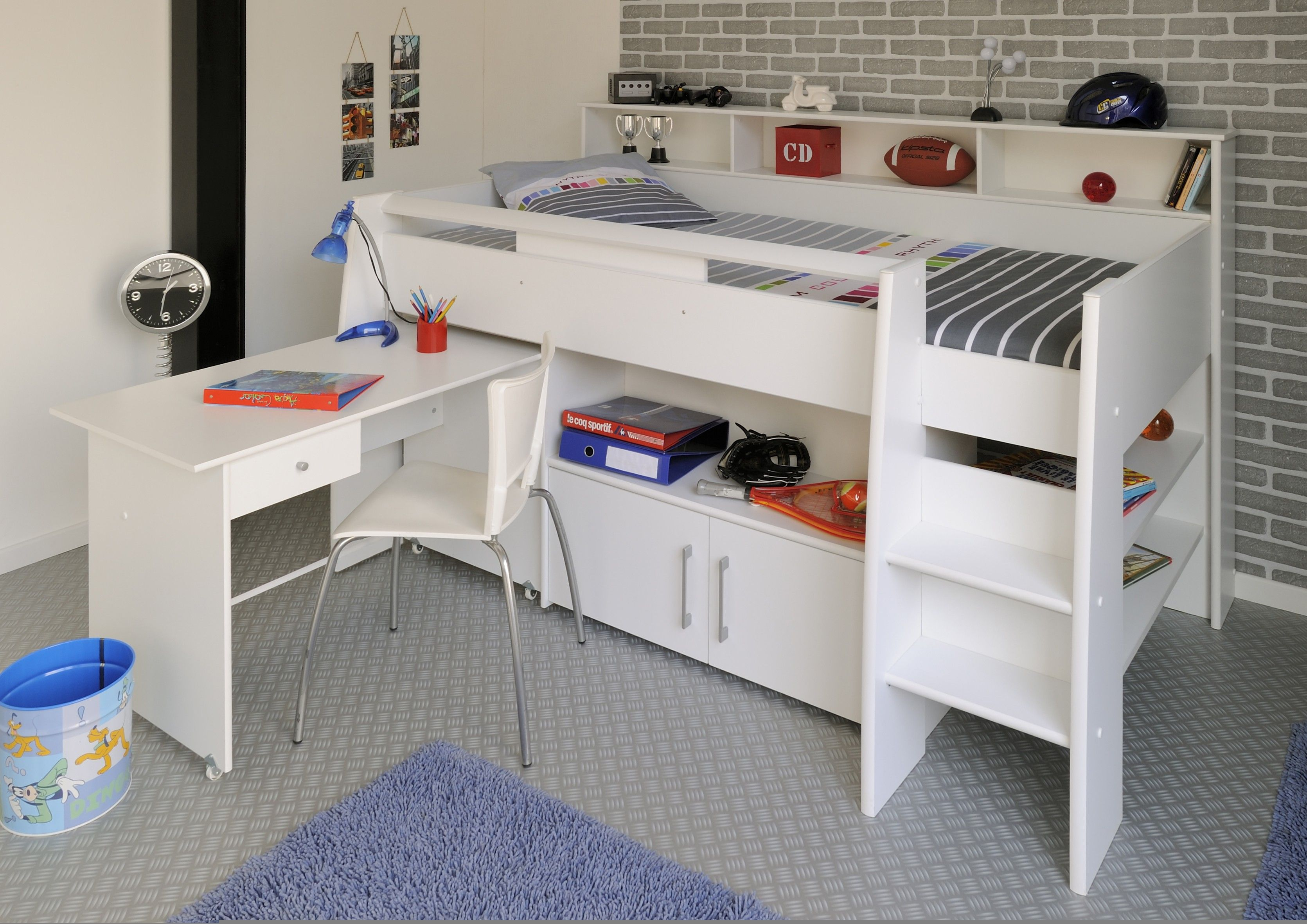 Halfhoogslaper met bureau swan bedrooms and room