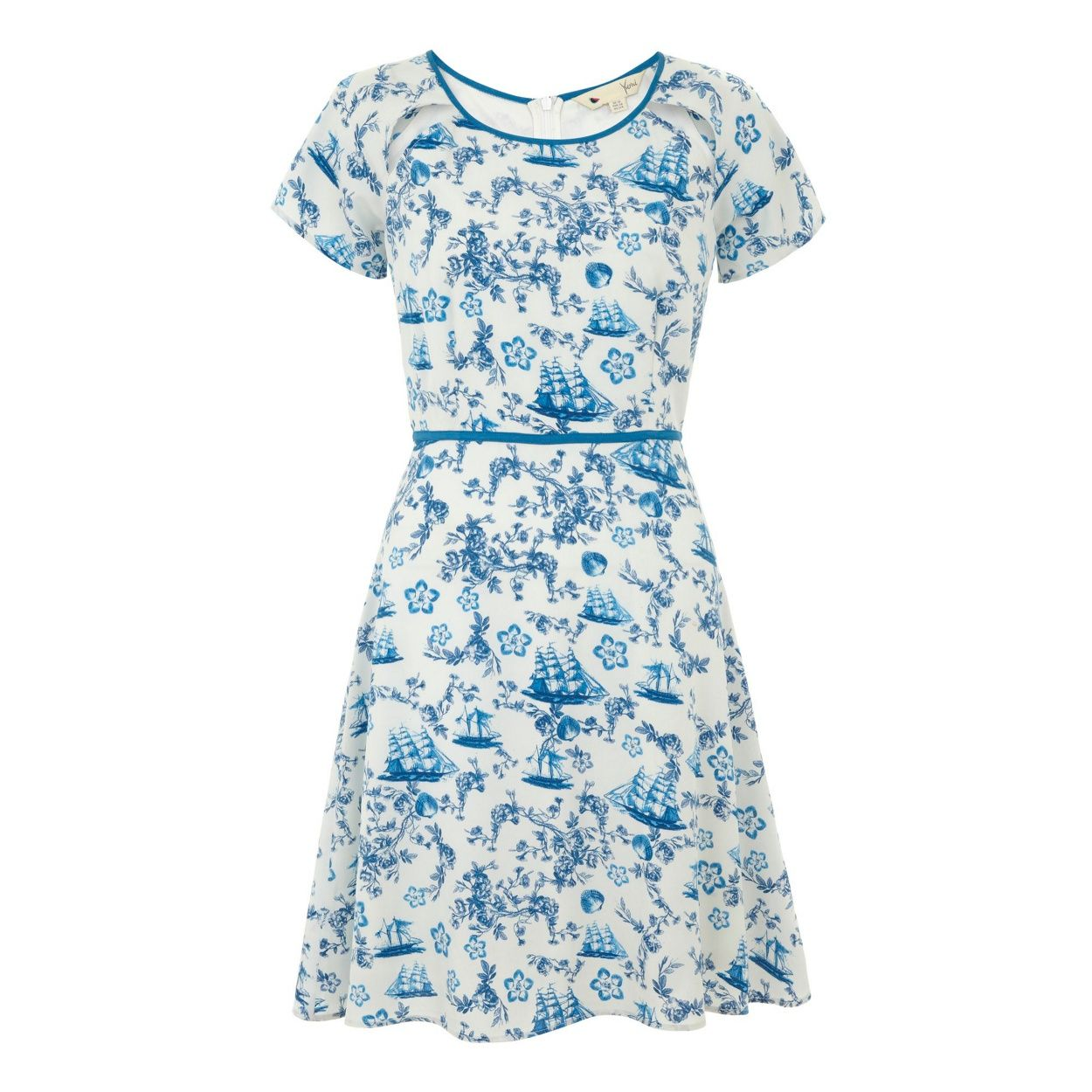 Yumi Blue Toile de jour dress- at Debenhams.com | Dress Fancy ...