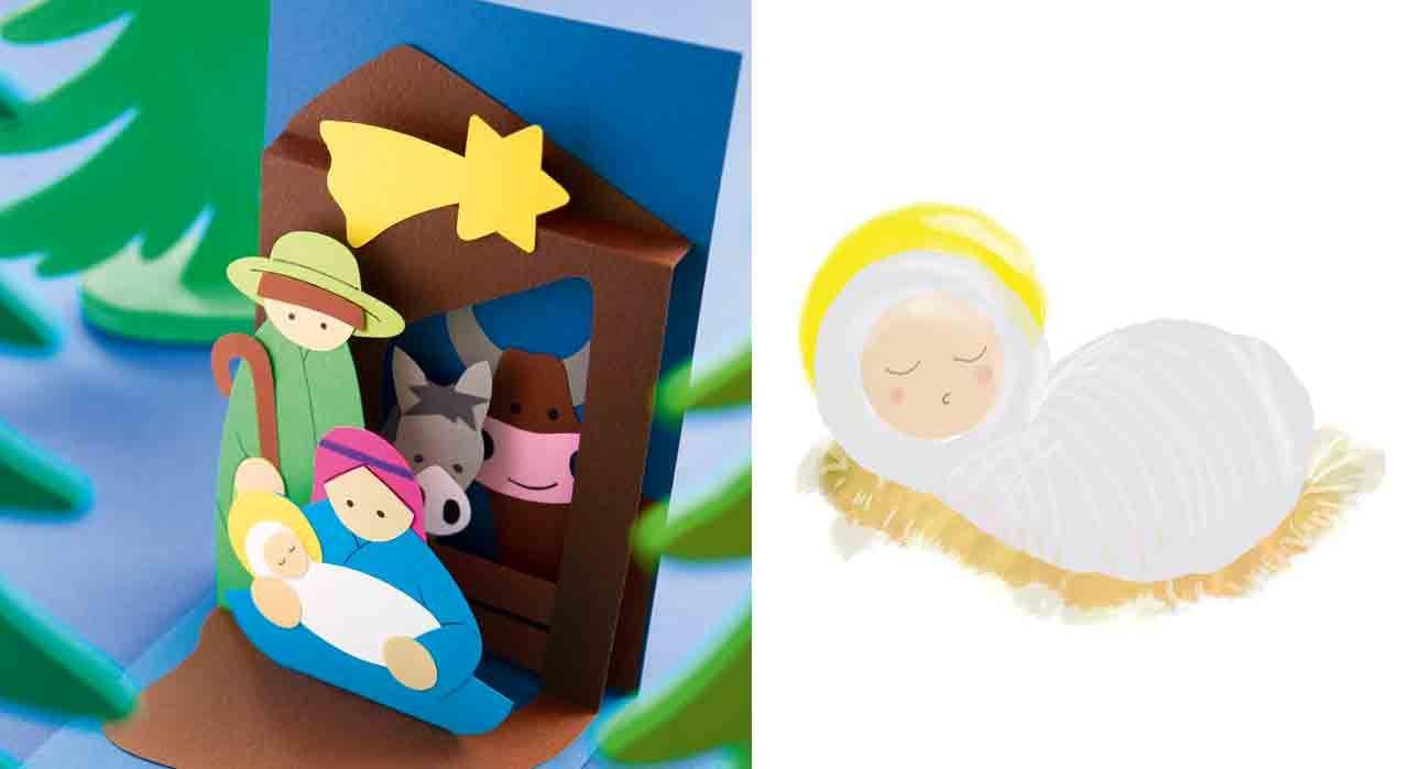 Une crèche de Noël originale | Kerststallen, Kerststal, Kerst