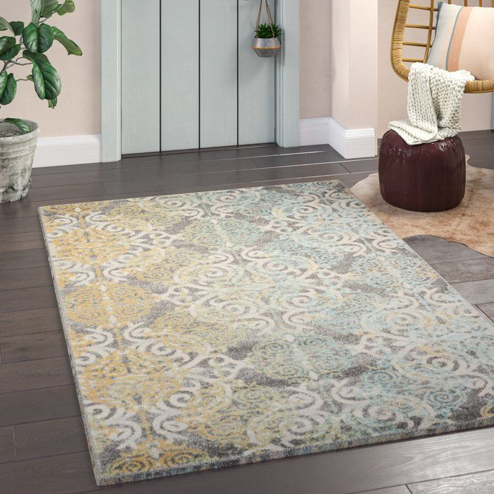 Elson Gray Yellow Area Rug In 2019 Rugs