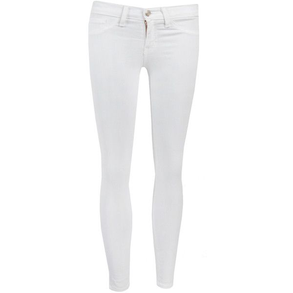 Ex Boyfriend Skinny Jeans Bottoms ($48) ❤ liked on Polyvore featuring jeans, white boyfriend jeans, white skinny jeans, denim skinny jeans, super stretch jeans and stretchy jeans