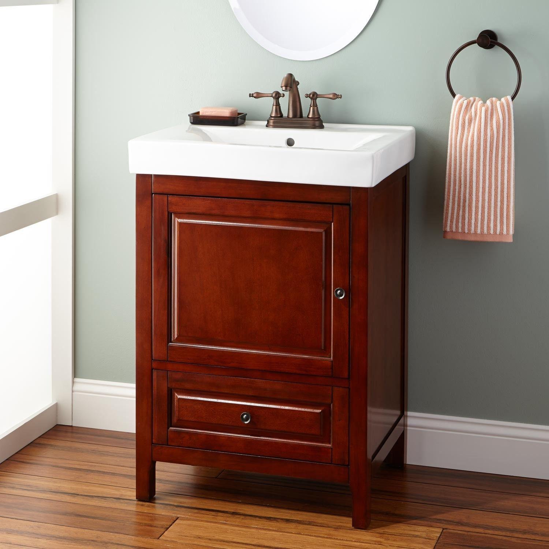 Light Cherry Bathroom Vanity