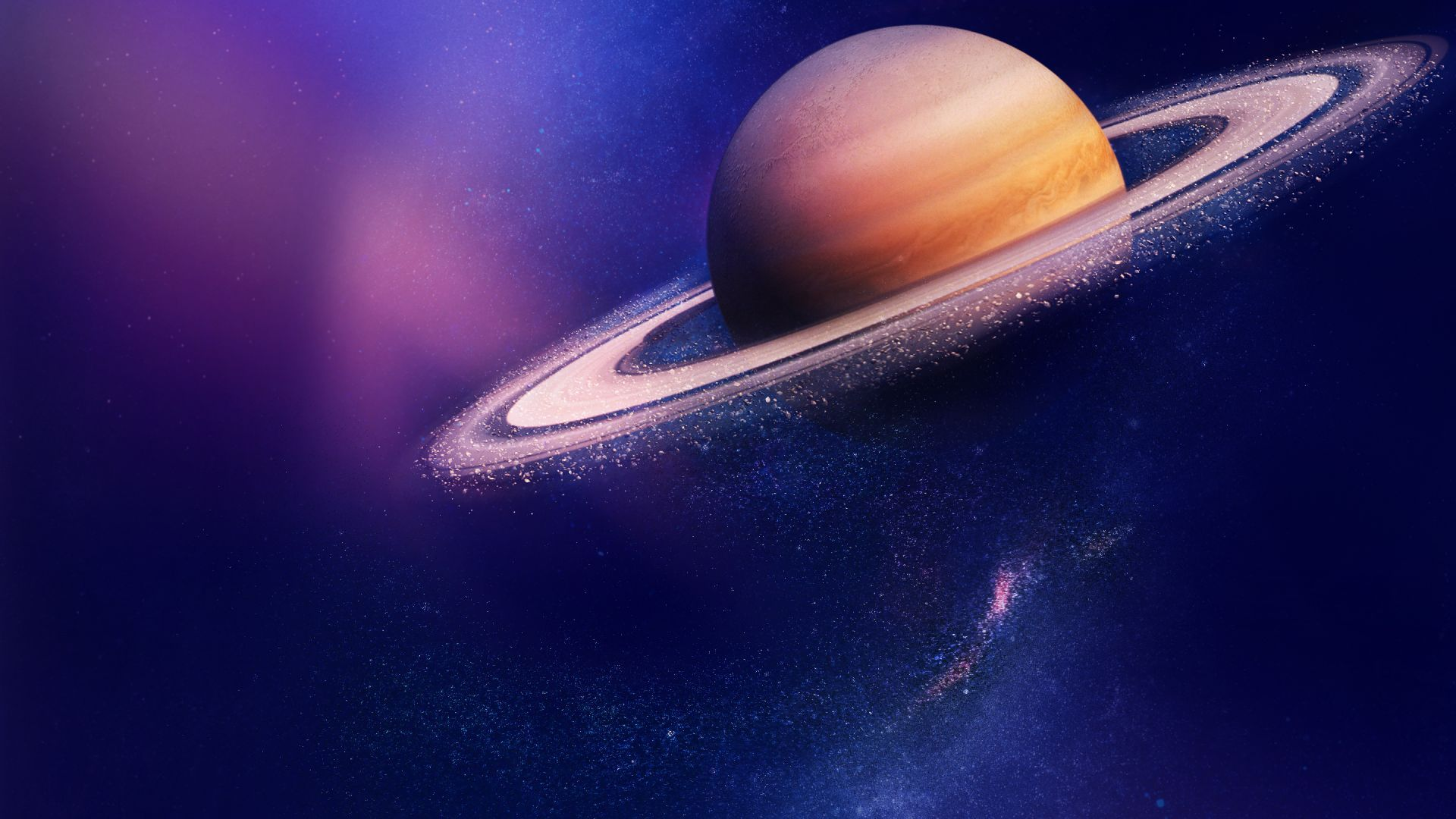 Saturn Planets Galaxy Huawei Honor V8 Stock Hd Wallpapers