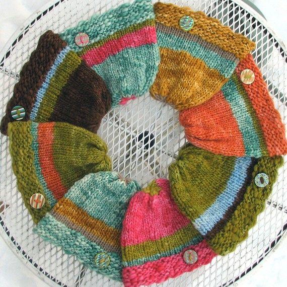 Fiesta Hats Pdf Nook Ipad Kindle Knitting Pattern For Loom Or