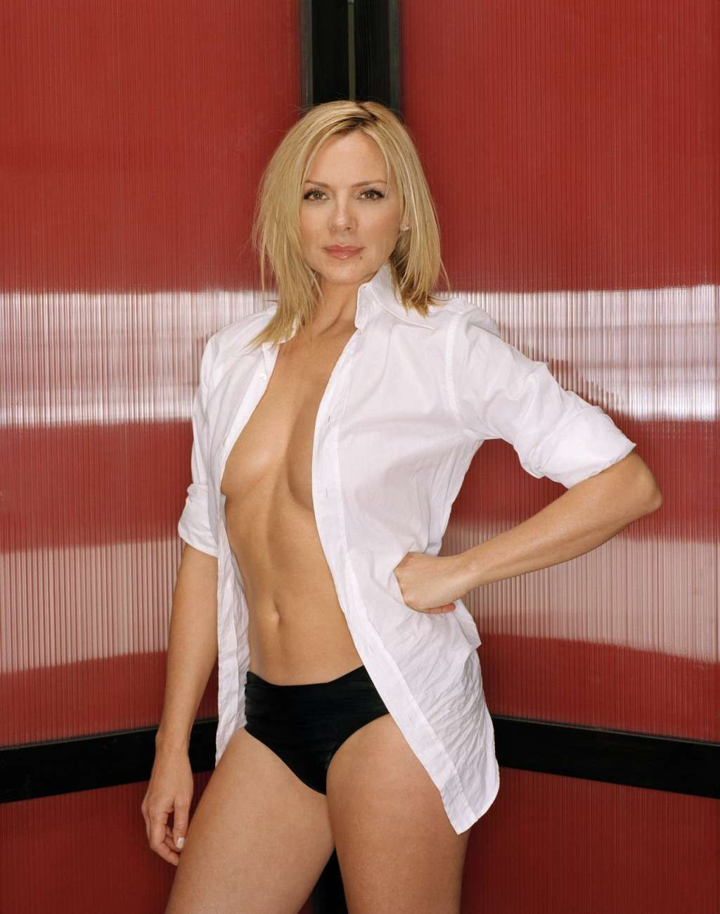 Hottest Kim Cattrall Photos - Kim Cattrall in White Open Blouse with  Underwear