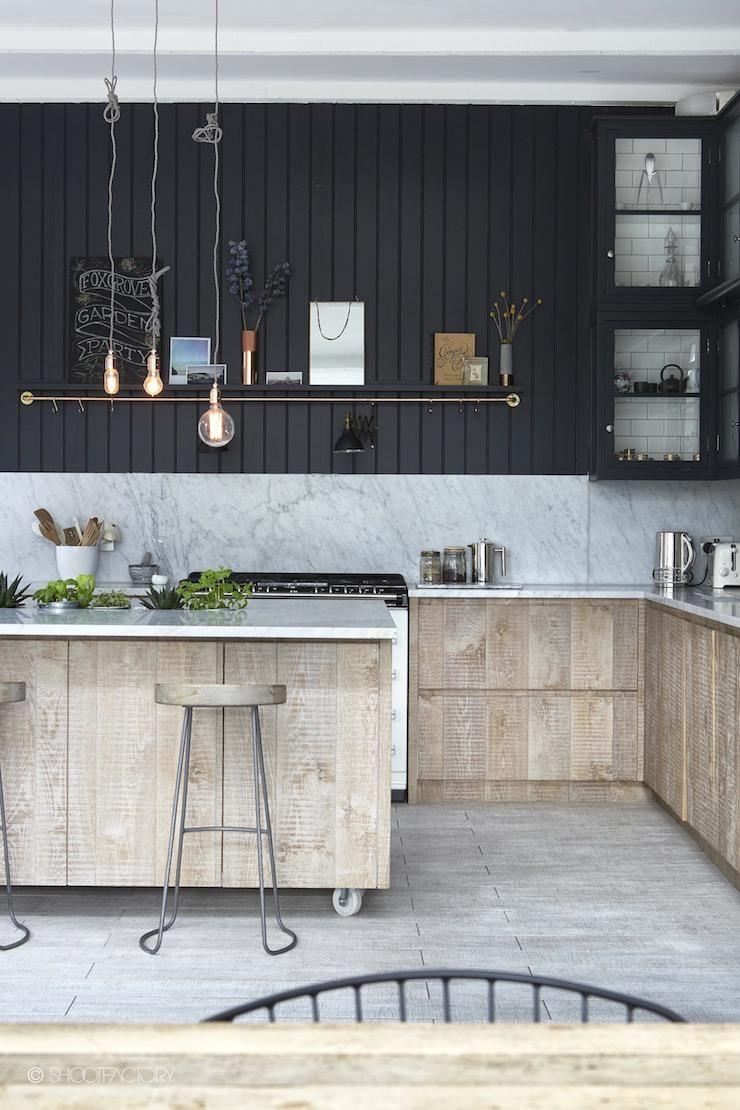 Küchenschränke blau industrial style  london home   house trogir  pinterest