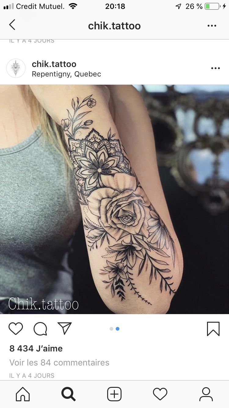 Floral Mandala Arm Tattoo Mandala Arm Tattoos Arm Tattoo