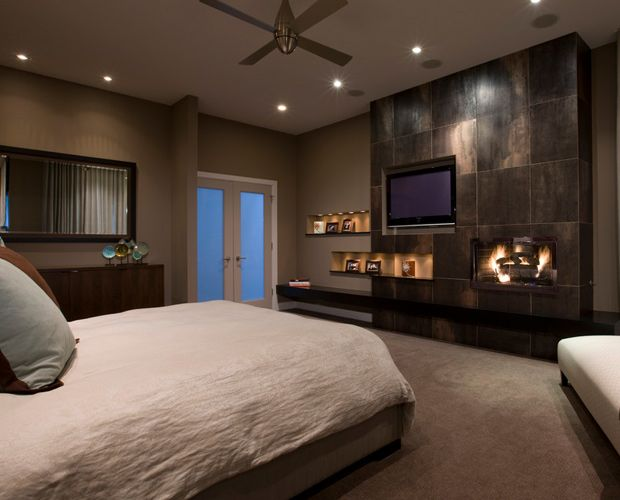 14 Gorgeous Master Bedroom Designs With Beautiful Fireplace Contemporary Bedroom Remodel Bedroom Contemporary Bedroom Design