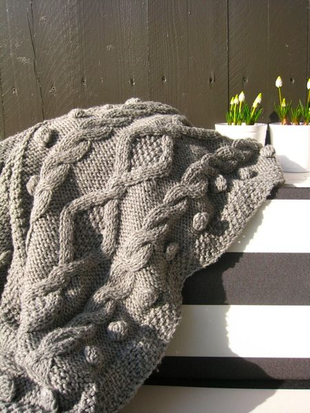Plaid Nel Wol Of Stofjes Pinterest Knitted Cushions Blanket