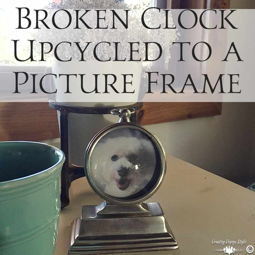 Broken Clock Repurposed Into A Picture Frame Picture Frames