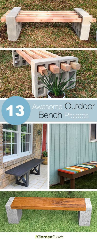 13 Awesome Outdoor Bench Projects Jardins Amenagement Jardin Projecteurs En Plein Air