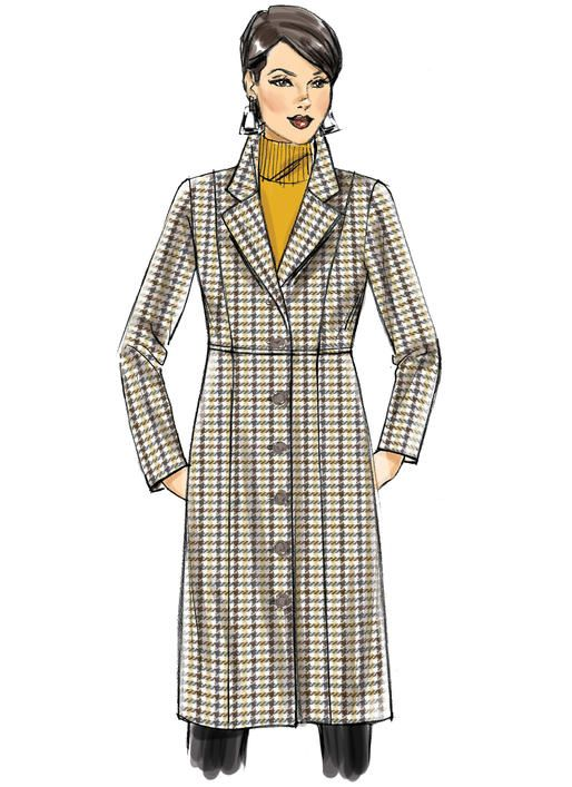 5122ed2cca2 B6430 Butterick sewing pattern Misses  Women s Empire-Waist Coat with  Princess Seams. From Connie Crawford and in sizes up to 6X.