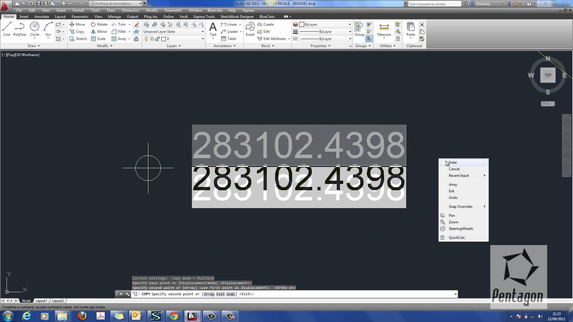 Using AutoCAD to create automatic survey coordinates using simple