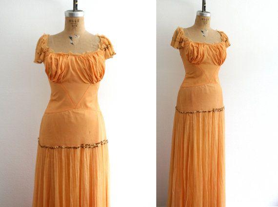 1930s dancing gown