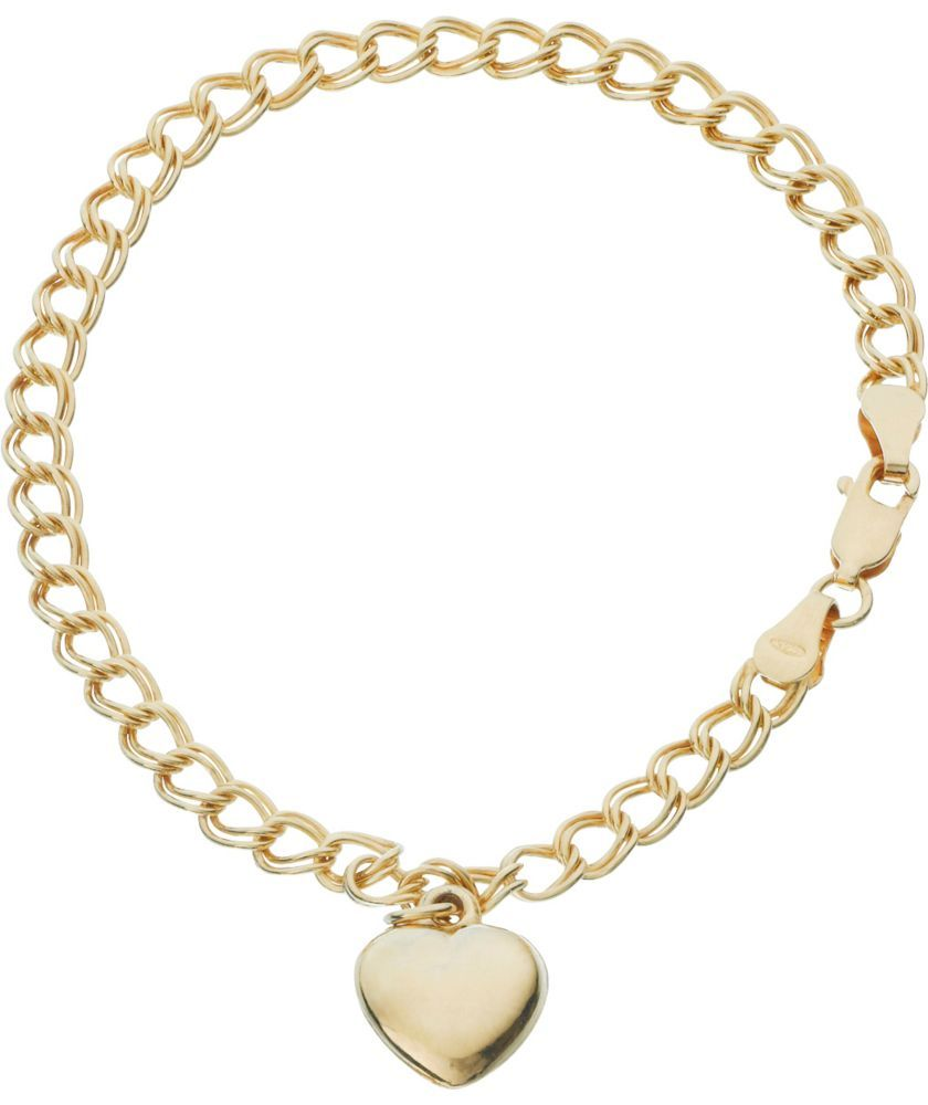 Buy Gold Plated Silver Heart Bracelet At Argos Co Uk Your Online