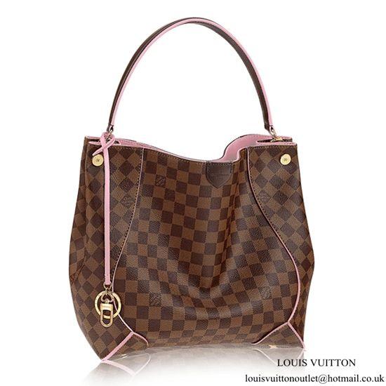 Louis Vuitton N41556 Caissa Hobo Bag Damier Ebene Canvas Louis Vuitton  Damier ebe04ed6718be