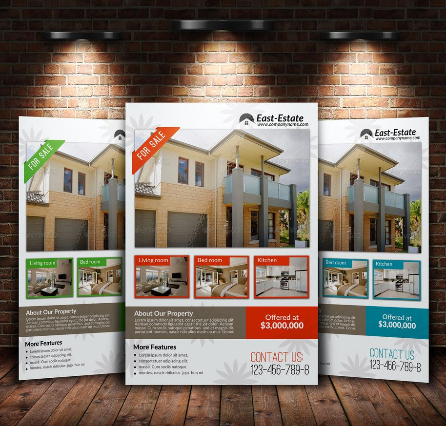 a4 real estate flyer by designhub719