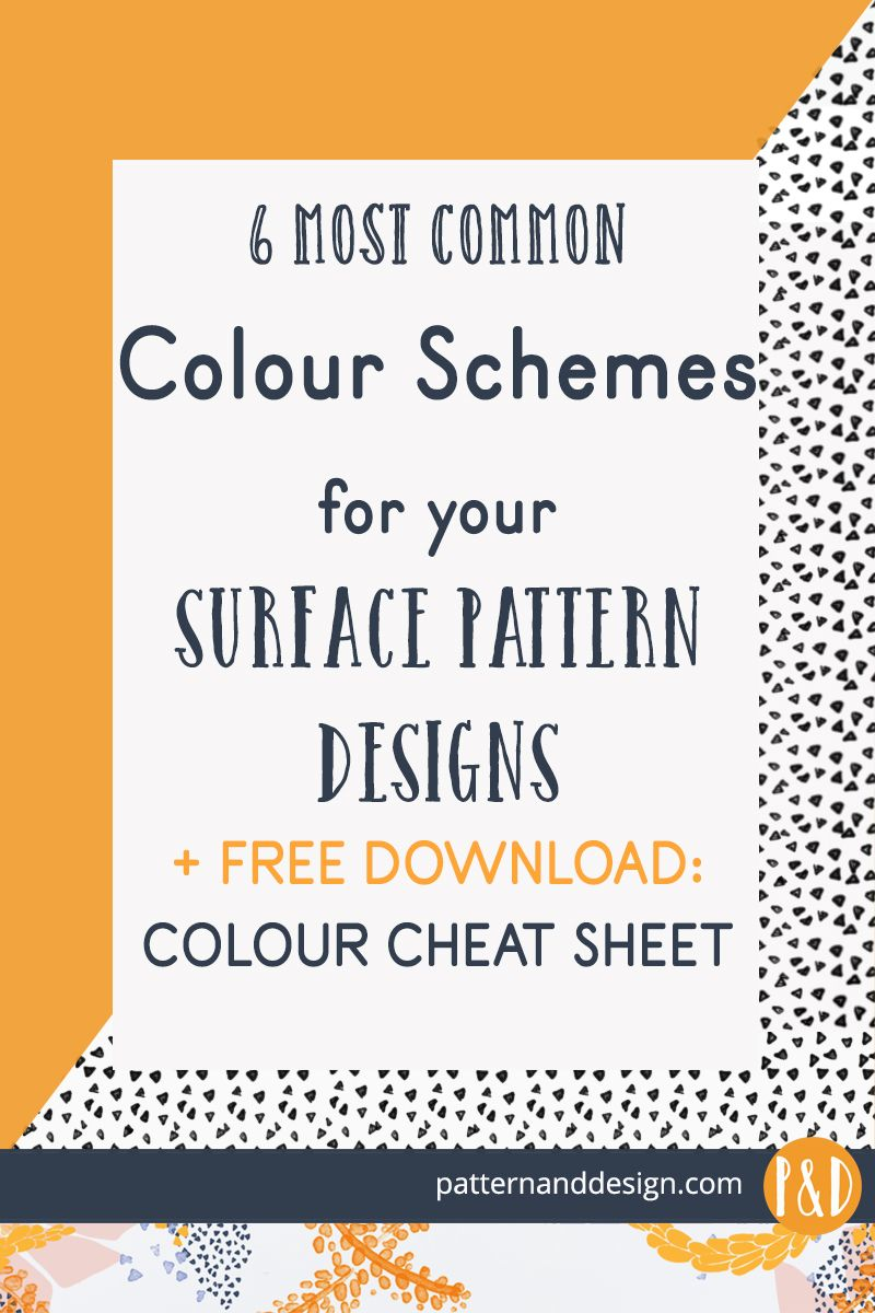 Most common colour schemes for your surface pattern designs #surfacepatterndesign