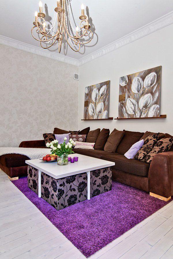 Room  Purple Scandinavian Living ...