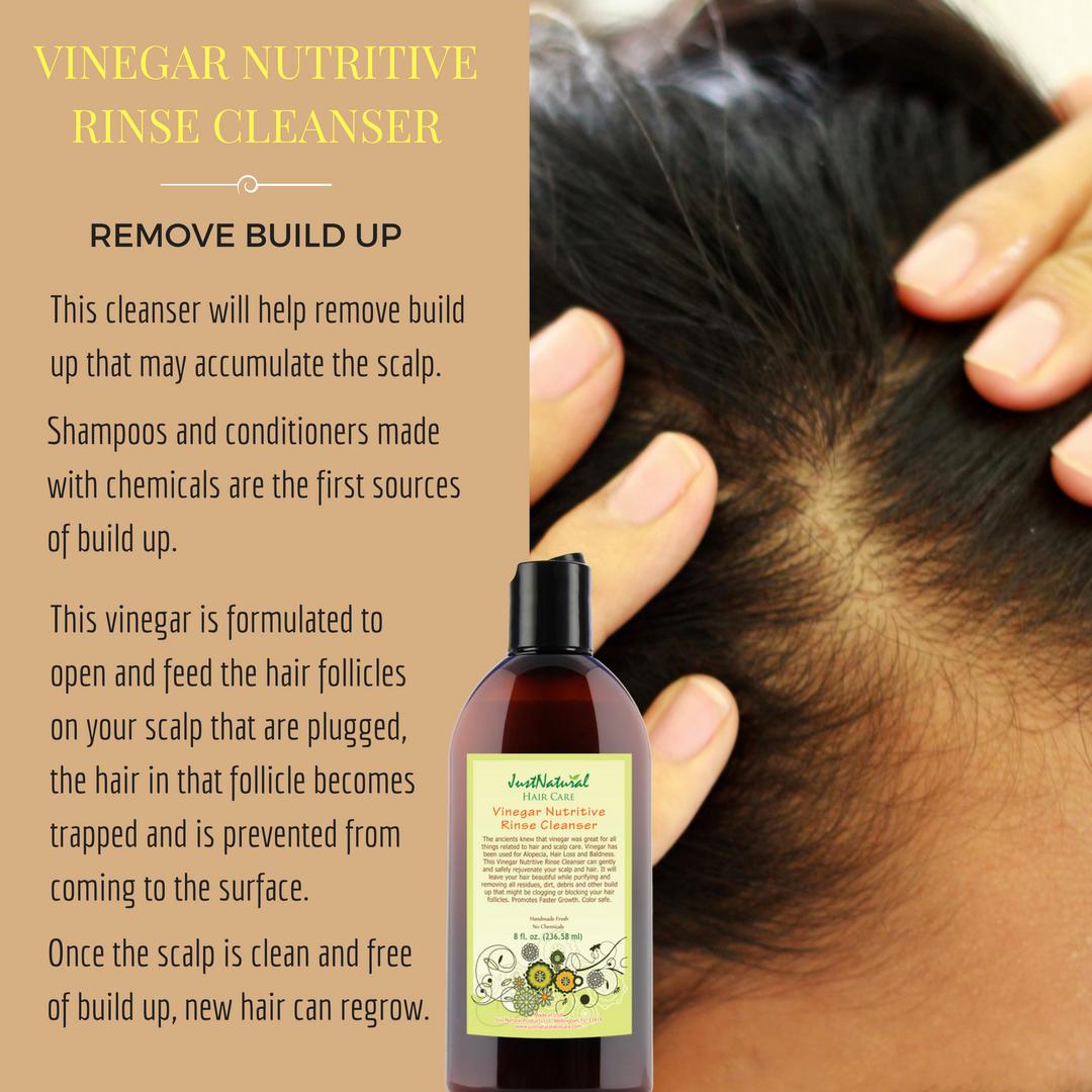Vinegar Nutritive Rinse Cleanser 8 oz. New hair, Hair