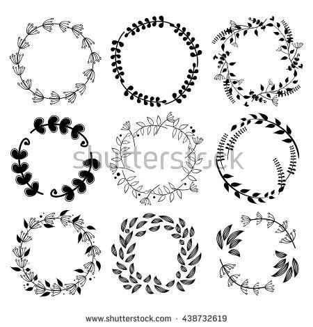 Collection Of Round Decorative Border Frames With Clear Background ...