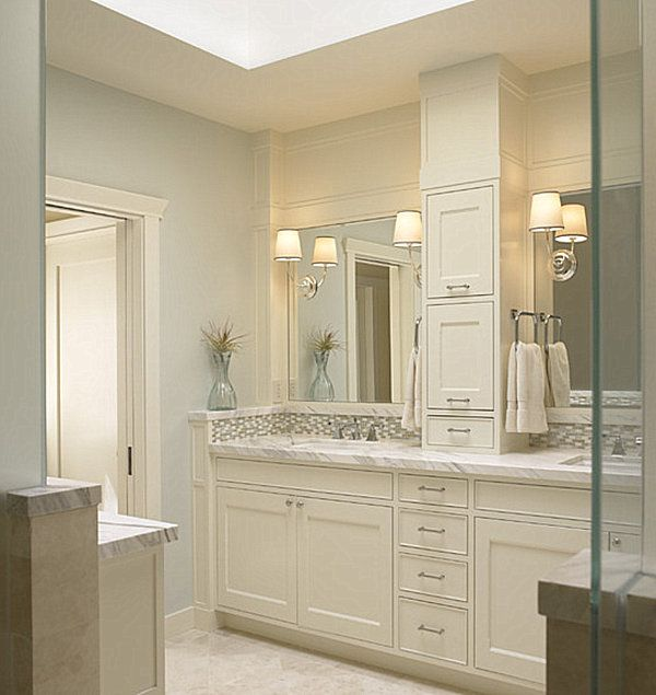 1 Fix The Gap Between Wall And Vanity Like Picture 2 Cabinet Tower Bathrooom Remodel Ideas