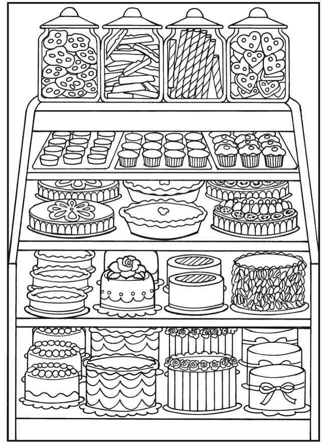 Desserts Coloring Pages Food Coloring Pages Coloring Books