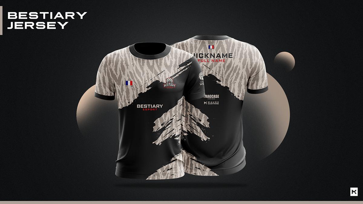 Download Jersey Esport Team Mockup On Behance Di 2020 Desain Kaos Jersey Kaos Desain