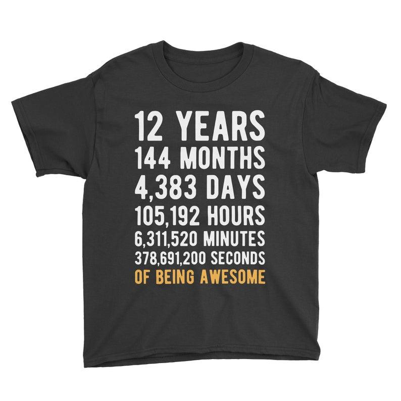 12th Birthday Shirt Birthday Countdown Of Being Awesome Etsy In 2020 Birthday Countdown Birthday Boy Shirts Birthday Shirts
