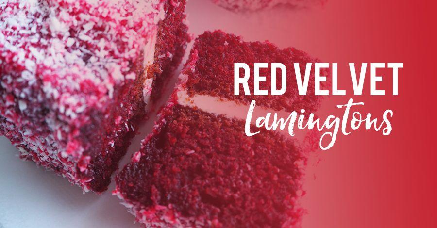 Red Velvet Lamingtons Inspired By Zumbo Recipe Lamingtons Red Velvet Red Cake