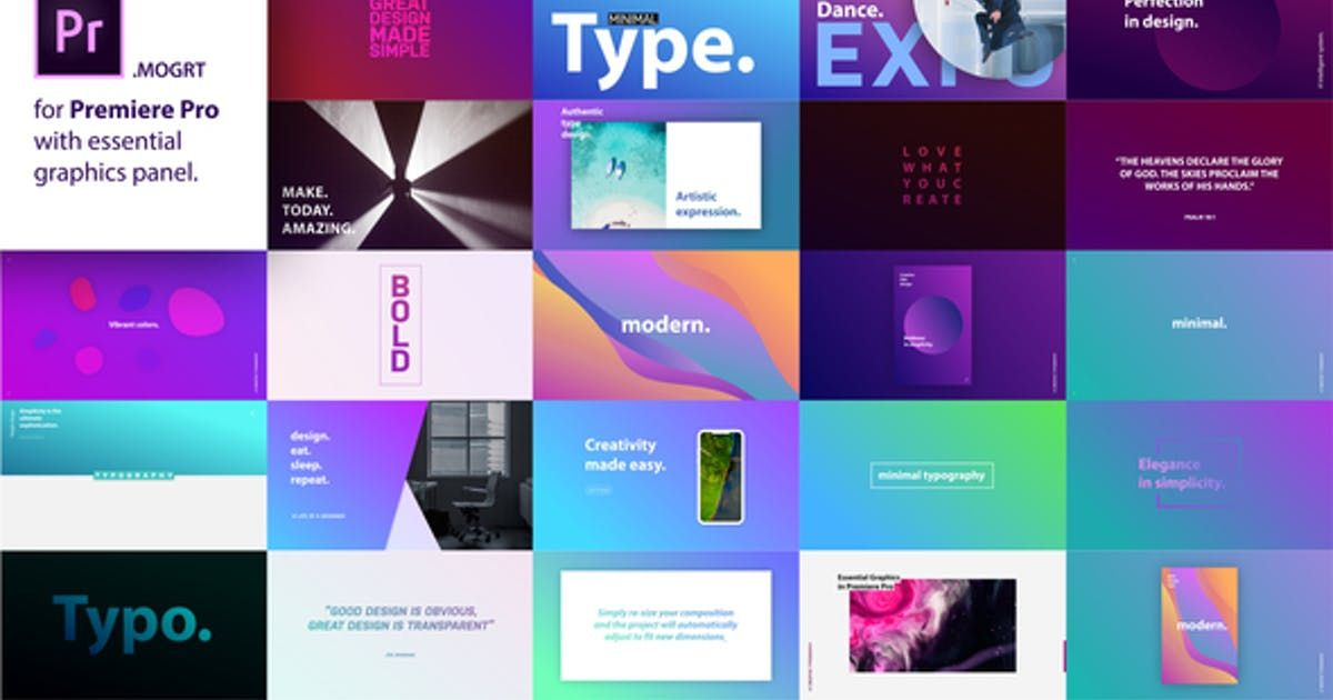 Titles by NeuronFX on After effects, Templates, After